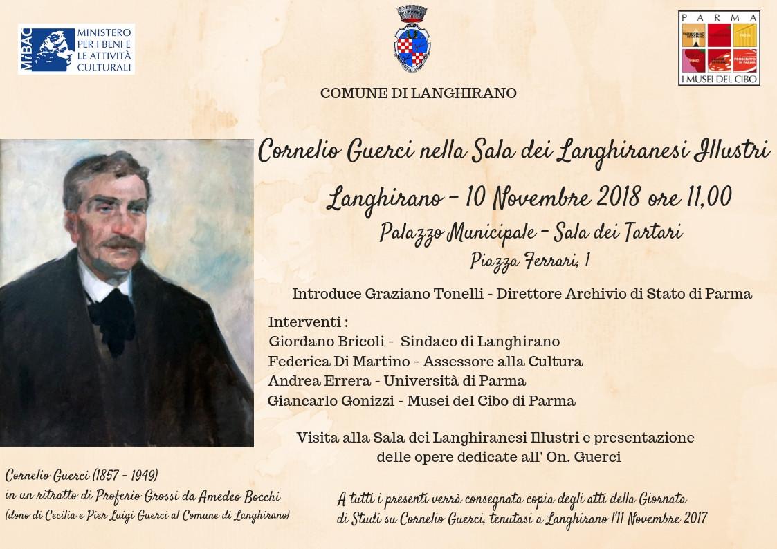 Cerimonia di introduzione diCornelio GuercinellaSala dei Langhiranesi Illustri