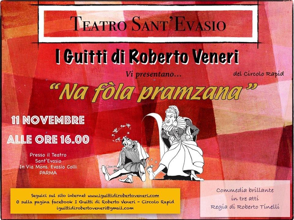 Stagione dialettale al Teatro S. Evasio: Na fola pramzana con i Guitti di Roberto Veneri