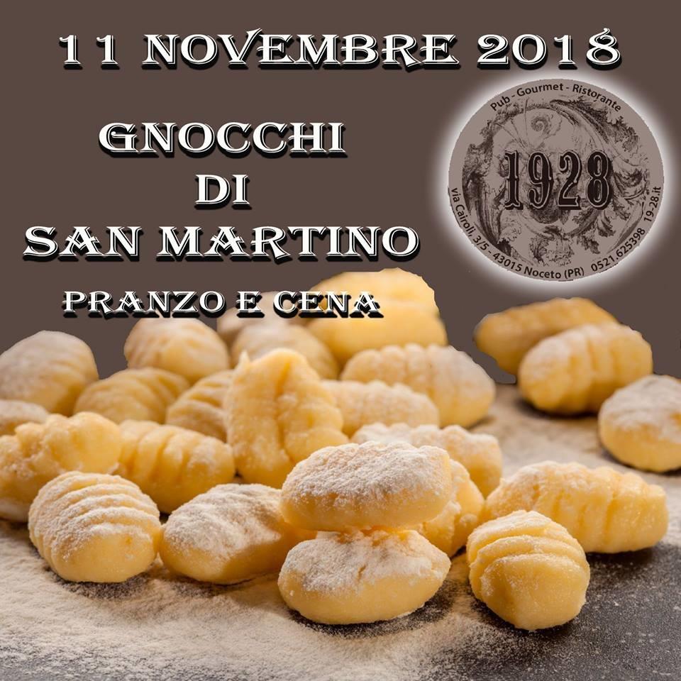 Gnocchi di San Martino al pub Gourmet 19.28 Ristorante.