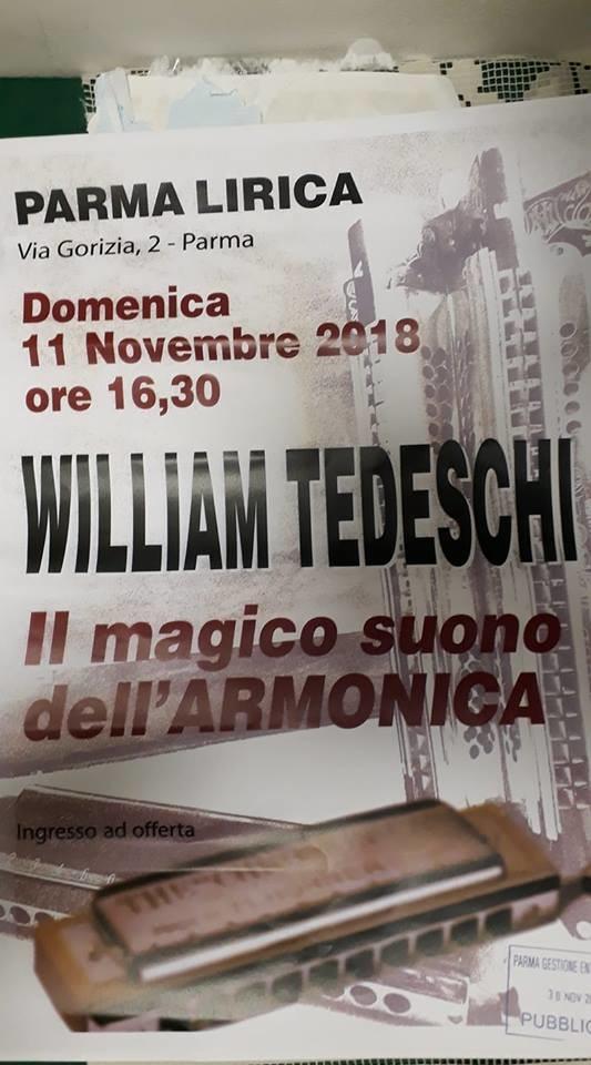 """""""Il magico suono dell'armonica"""" con William Tedeschi"""