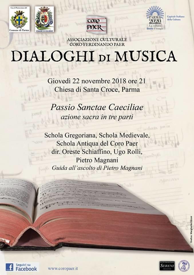 Dialoghi di musica: PASSIO SANCTAE CAECILIAE