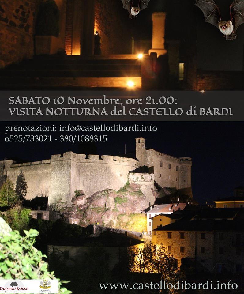 Visita notturna al castello di Bardi