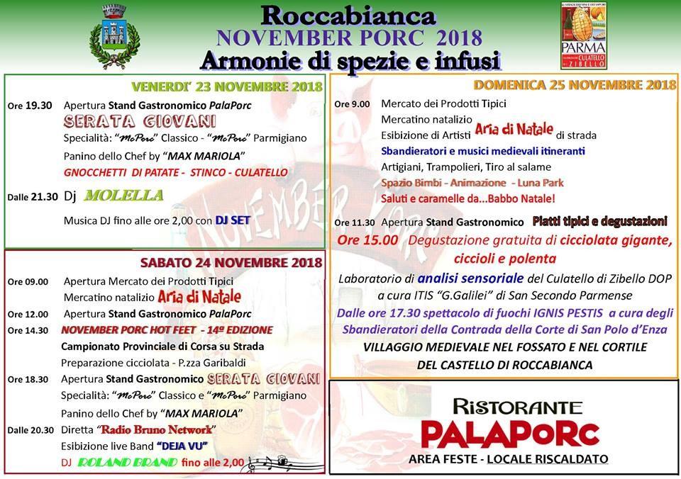 November porc a Roccabianca