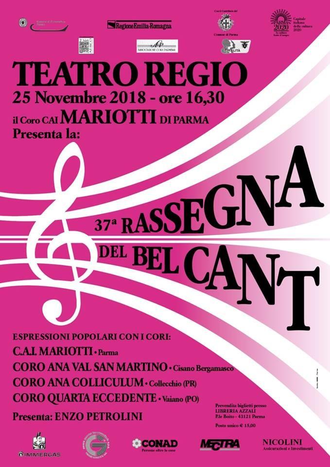 Rassegna del Bel Cant al Teatro Regio