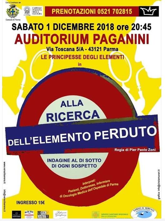 """""""Alla ricerca dell'elemento perduto"""" all'Auditorium Paganini"""