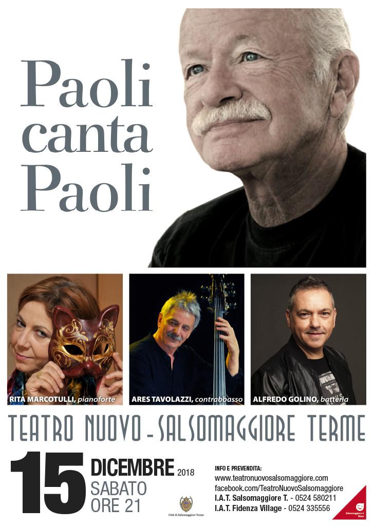 GINO PAOLI IN CONCERTO al Teatro Nuovo di Salsomaggiore