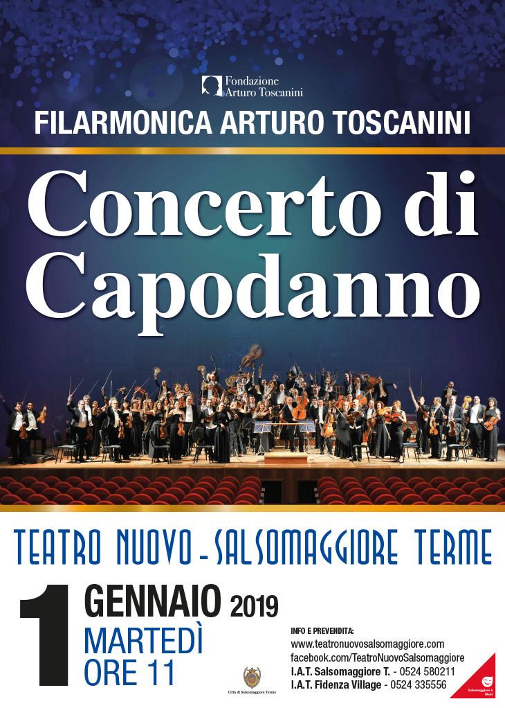 Concerto di Capodanno con la  Filarmonica Arturo Toscanini  al Teatro Nuovo di Salsomaggiore