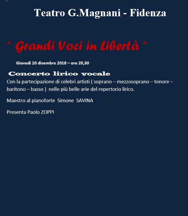 """La Stagione lirico-concertistica 2018/2019 del Magnani di Fidenza: """"Grandi voci in libertà"""""""