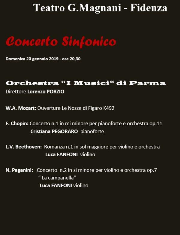 La Stagione lirico-concertistica 2018/2019 del Magnani di Fidenza: concerto sinfonico