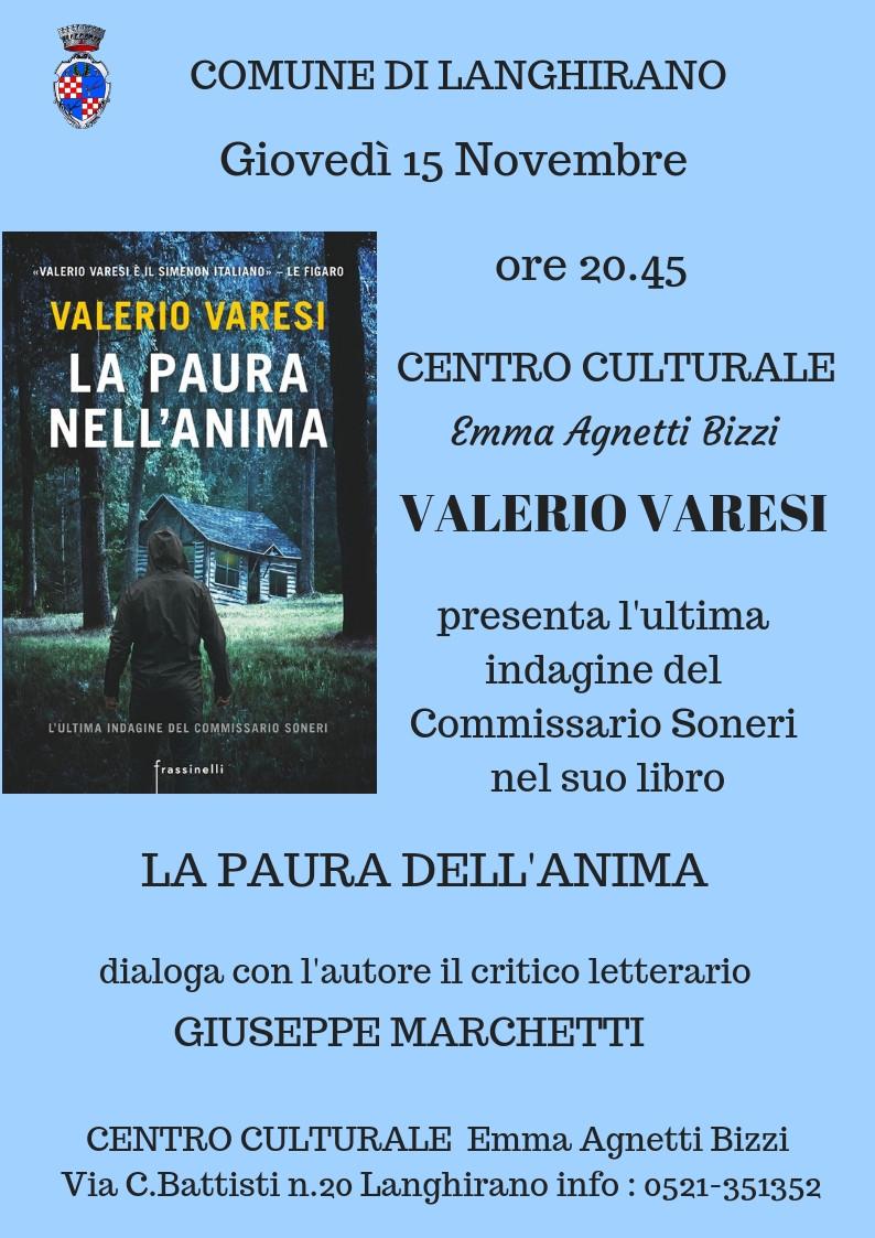 """Langhirano incontra"" :  con   VALERIO VARESI"