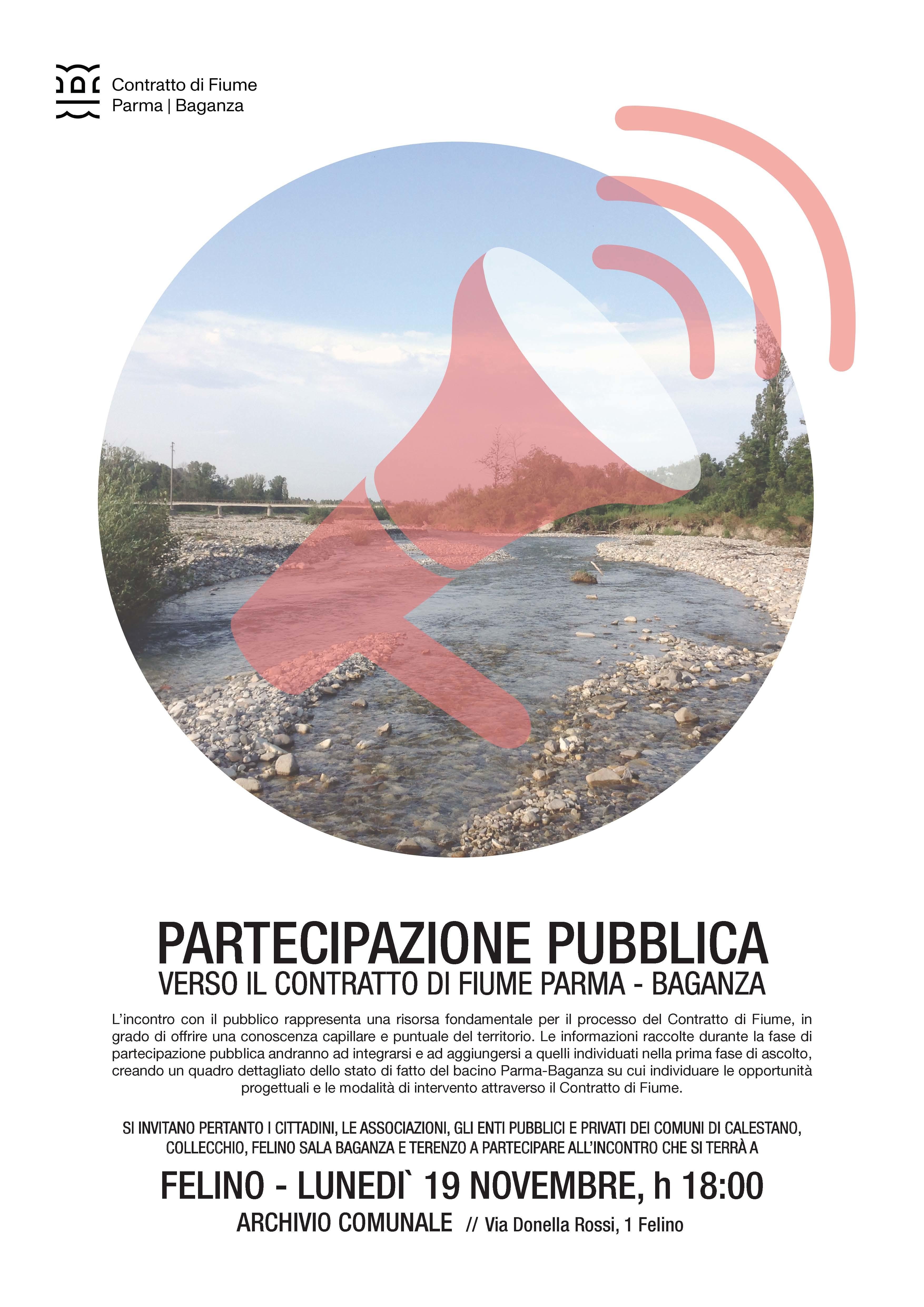 """""""Contratto di Fiume Parma Baganza"""", incontro pubblico"""