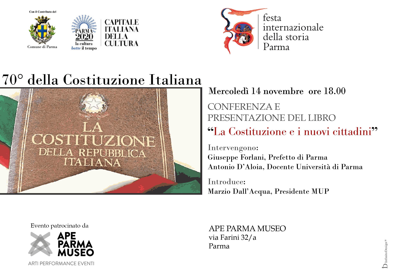 Festival internazionale della storia:  70° della Costituzione Italiana