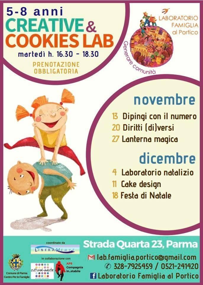 Martedì al Laboratorio Famiglia al Portico , laboratori per bambini