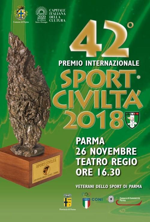 Conferenza stampa di presentazione della 42esima edizione del premio internazionale Sport Civiltà