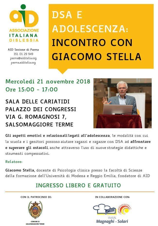 DSA e adolescenza: incontro con Giacomo Stella