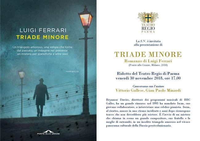 Presentazione di TRIADE MINORE  romanzo di Luigi Ferrari
