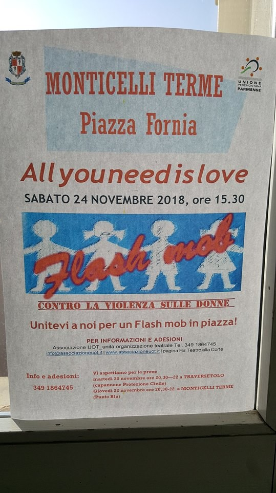 ALL YOU NEED IS LOVE Flash mob in Piazza a Monticelli per dire no alla violenza sulle donne