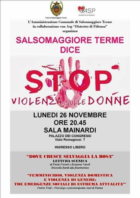 Salsomaggiore Terme dice STOP violenza sulle donne