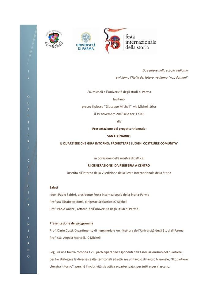 """Festival internazionale della storia:  presentazione del progetto """"SAN LEONARDO"""""""