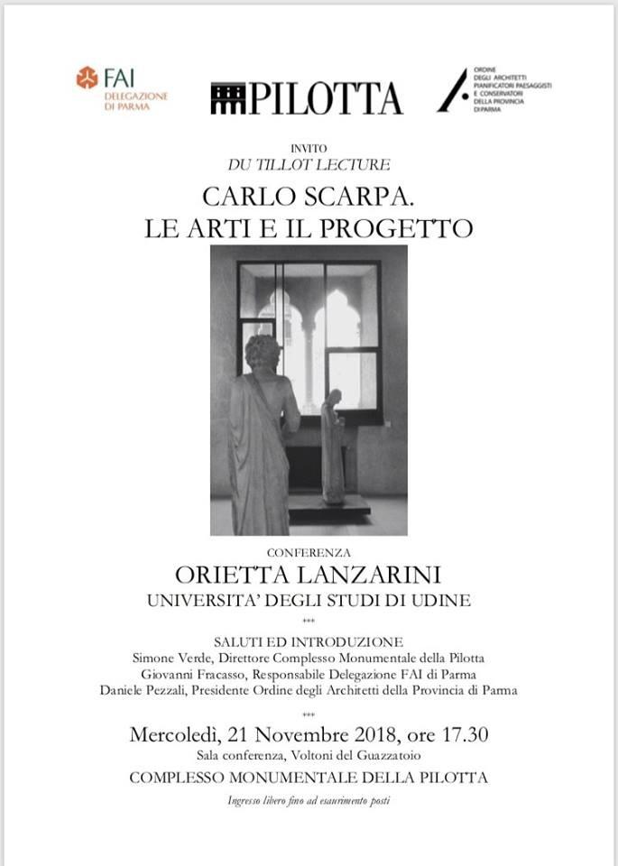 CARLO SCARPA. Le Arti e il ProgettoConferenza di ORIETTA LANZARINI