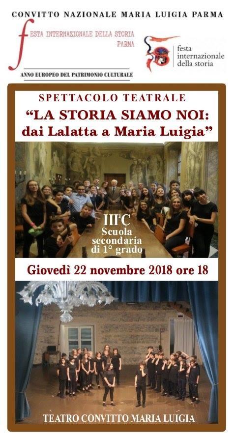 Festival internazionale della storia: rappresentazione teatrale al Convitto Maria Luigia