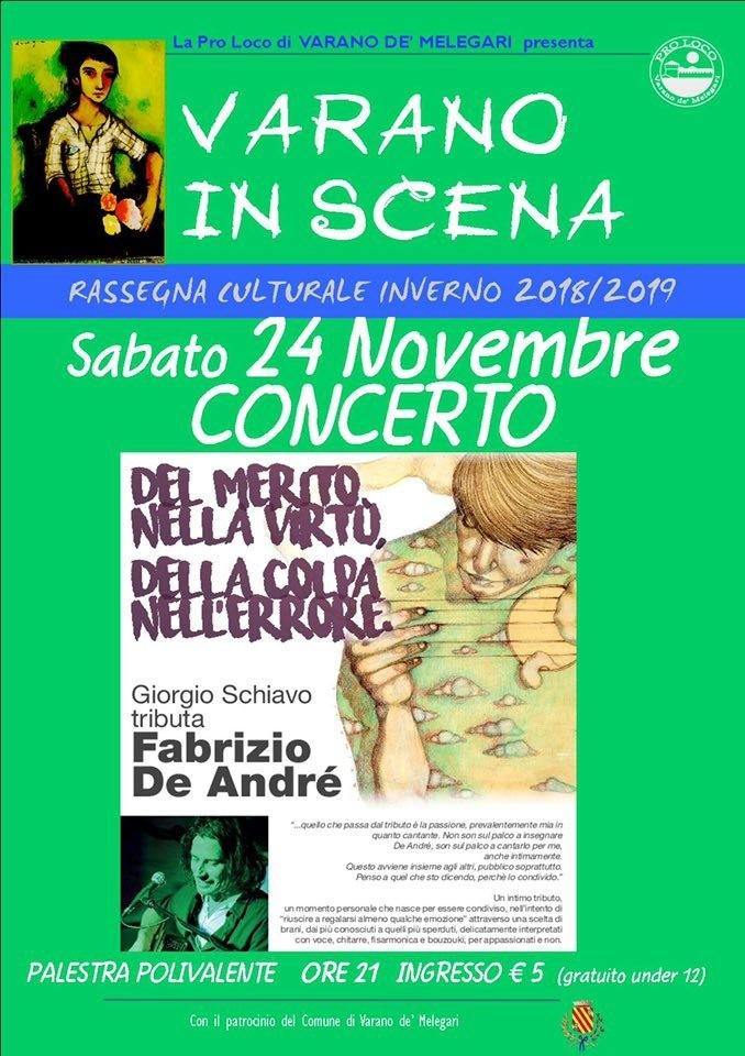 Varano in scena: concerto tributo dedicato a De Andrè