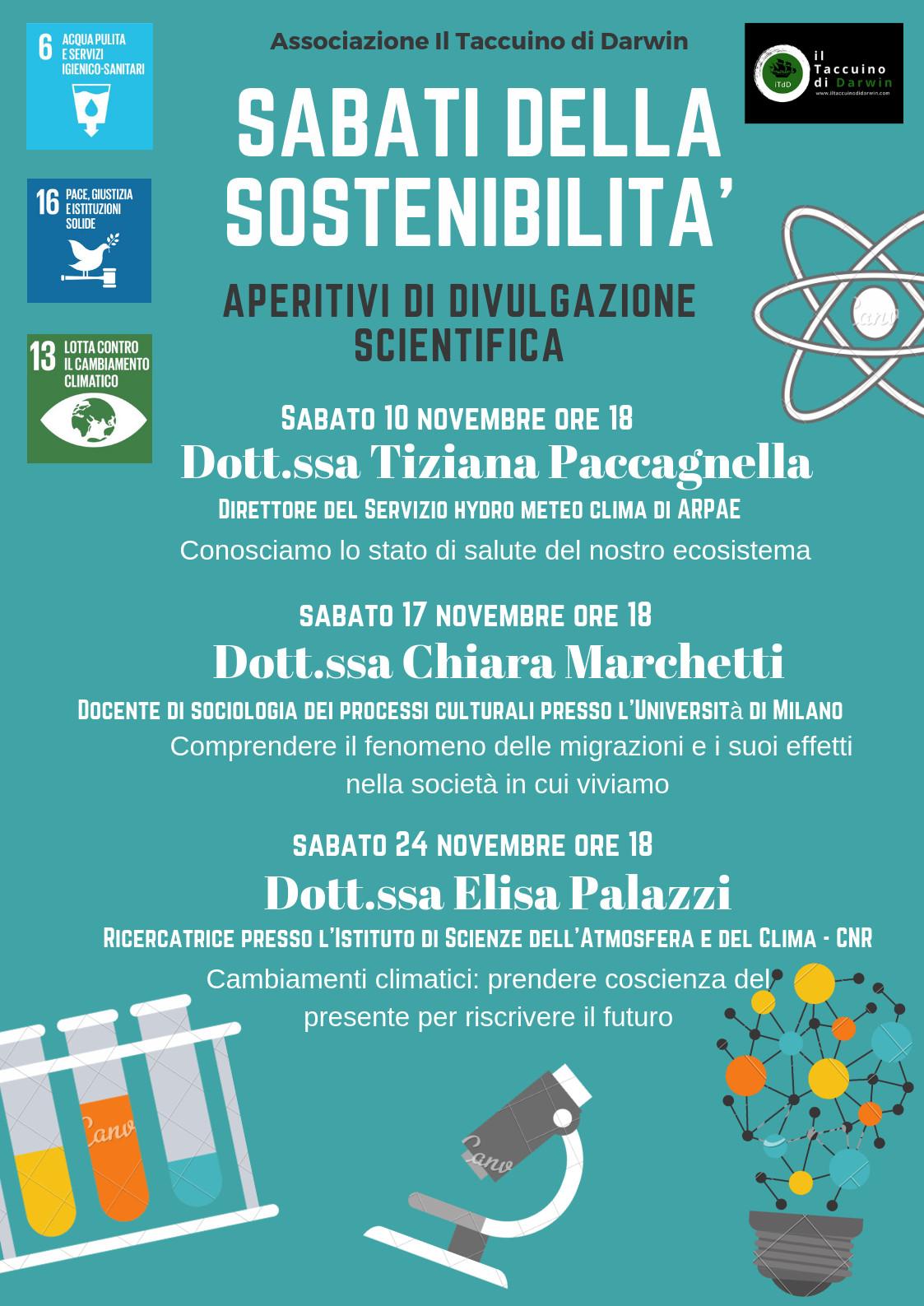 """""""CAMBIAMENTI  CLIMATICI: PRENDERE COSCIENZA DEL PRESENTE PER RISCRIVERE IL FUTURO""""  con ELISA  PALAZZI"""