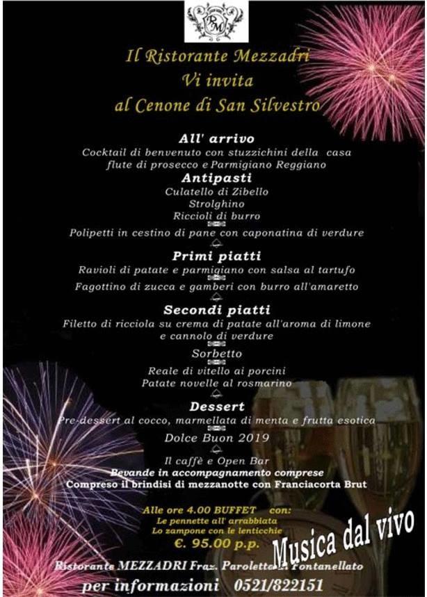 Cenone di San Silvestro. e Musica dal vivo con  Gianni Gallo e Viviana al ristorante Mezzadri