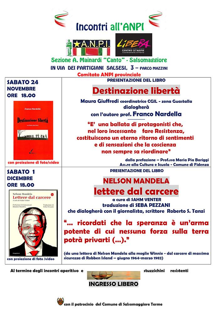 Presentazione del libro NELSON MANDELA LETTERE DAL CARCERE a cura di Sahm Venter