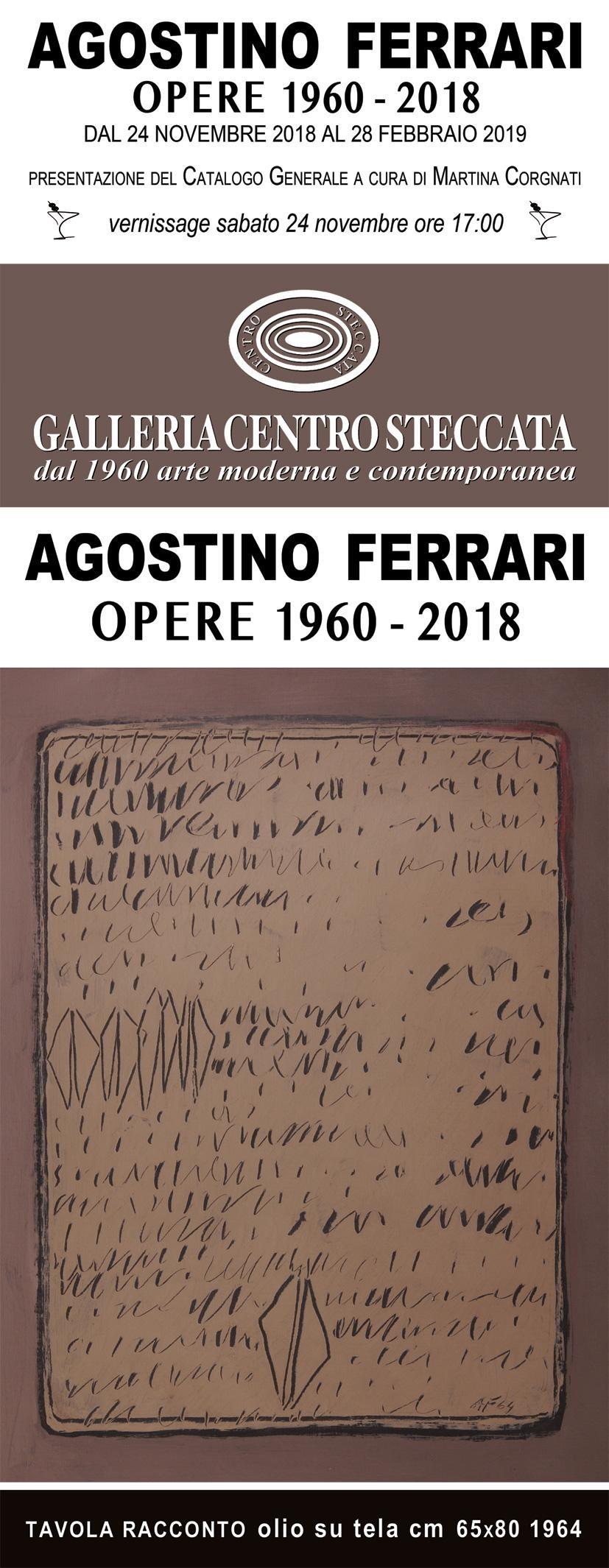 """Mostra """"Agostino Ferrari opere 1960-2018"""""""
