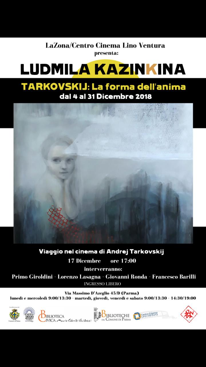 TARKOVSKIJ: LA FORMA DELL'ANIMA di LUDMILA KAZINKINA mostra al Centro Cinema Lino Ventura
