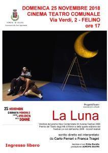 La Luna: a teatro per la Giornata contro la violenza sulle donne