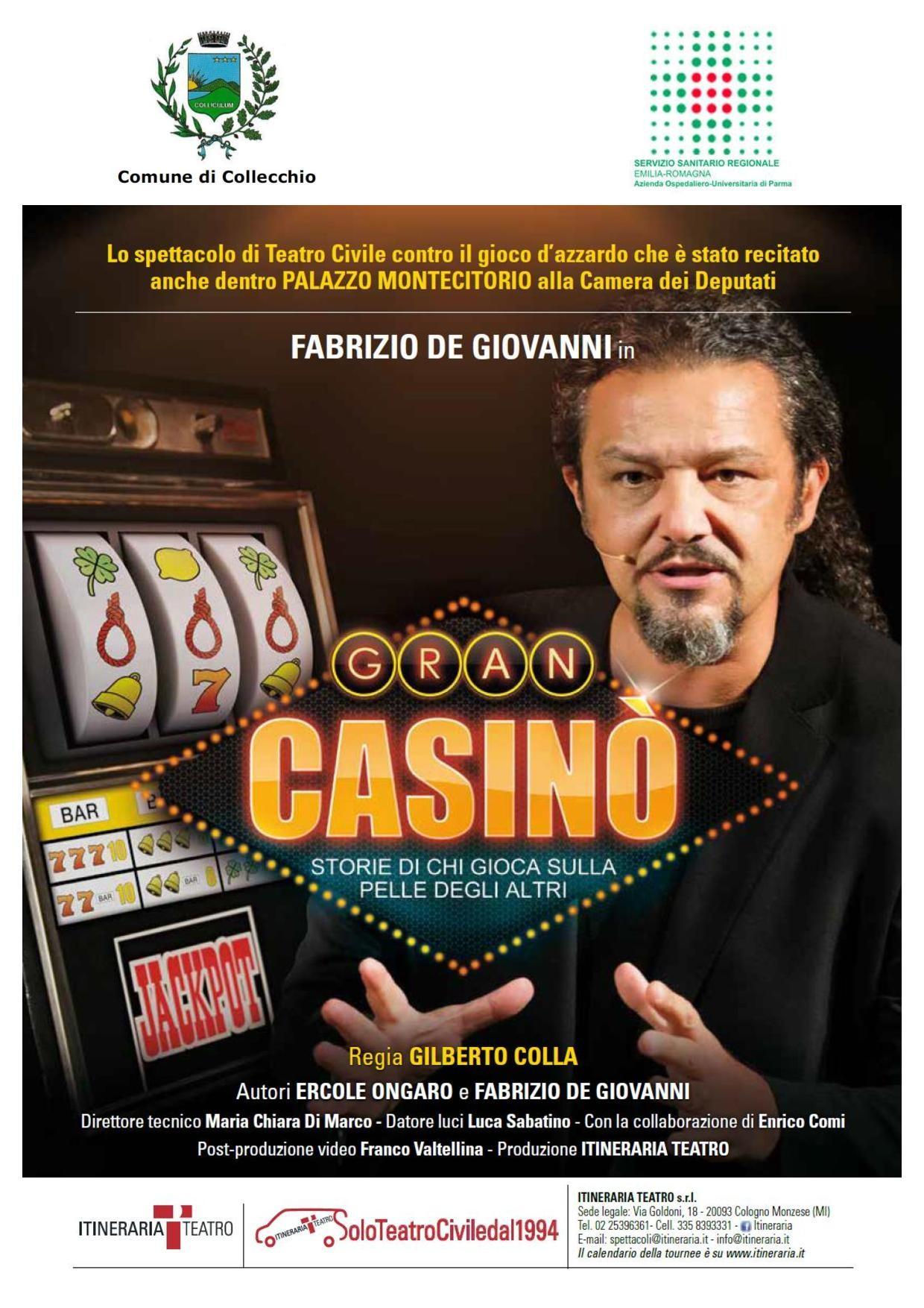 """""""Gran casinò"""" a Collecchio uno spettacolo per di no al gioco d'azzardo"""