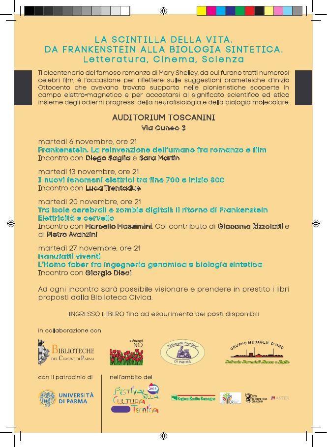 """""""Manufatti viventi. L'Homo faberfra ingegneria genomica e biologia sintetica"""",  Giorgio Dieci all'Auditorium Toscanini"""