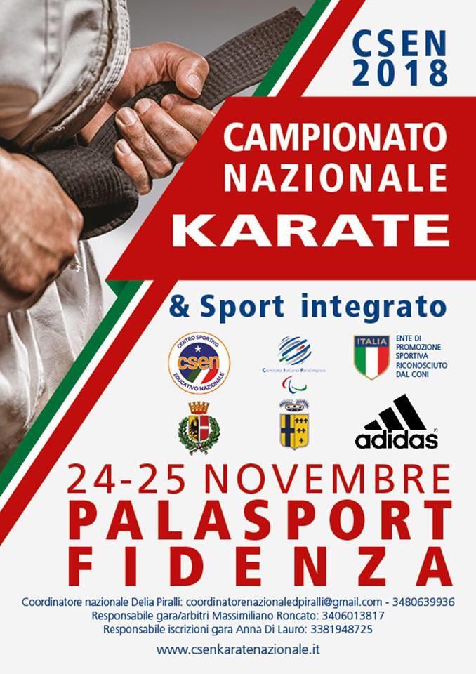 Campionato Nazionale di Karate  a Fidenza