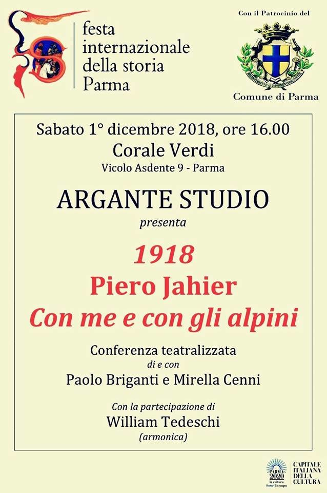 Festival internazionale della storia: 1918. Piero Jahier: Con me e con gli alpini, incontro alla Corale Verdi