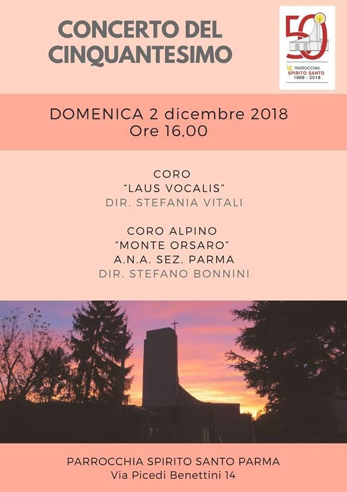 """Concerto del 50esimo col coro alpino """"Monte Orsaro"""" ANA Sez. Parma e ..."""