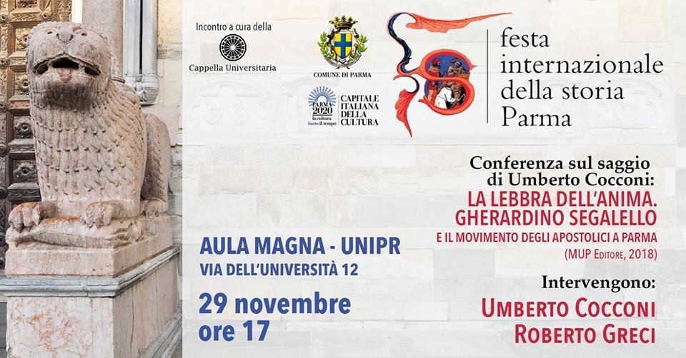 Festival internazionale della storia: incontro dedicato al saggio di don Umberto Cocconi