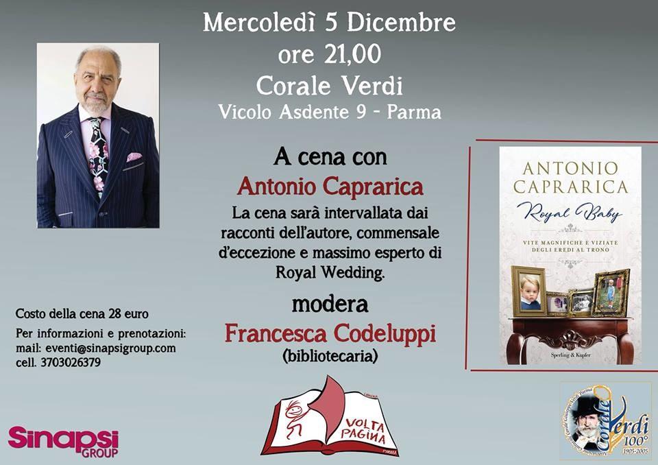 A cena con Antonio Caprarica