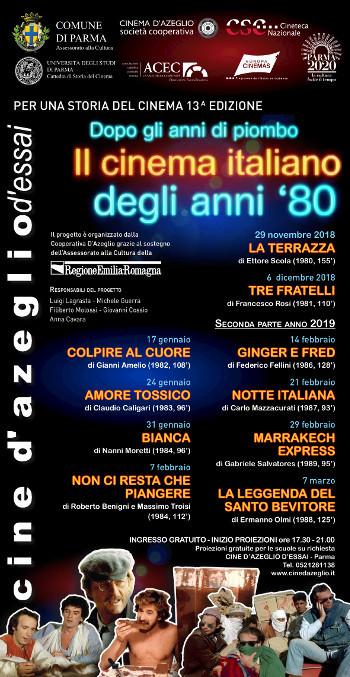 Rassegna Dopo gli anni di piombo, il cinema italiano degli anni '80
