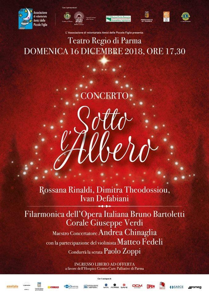 """Al  Regio   il concerto """"Sotto l'Albero"""" organizzato dall'Associazione Amici delle Piccole Figlie"""