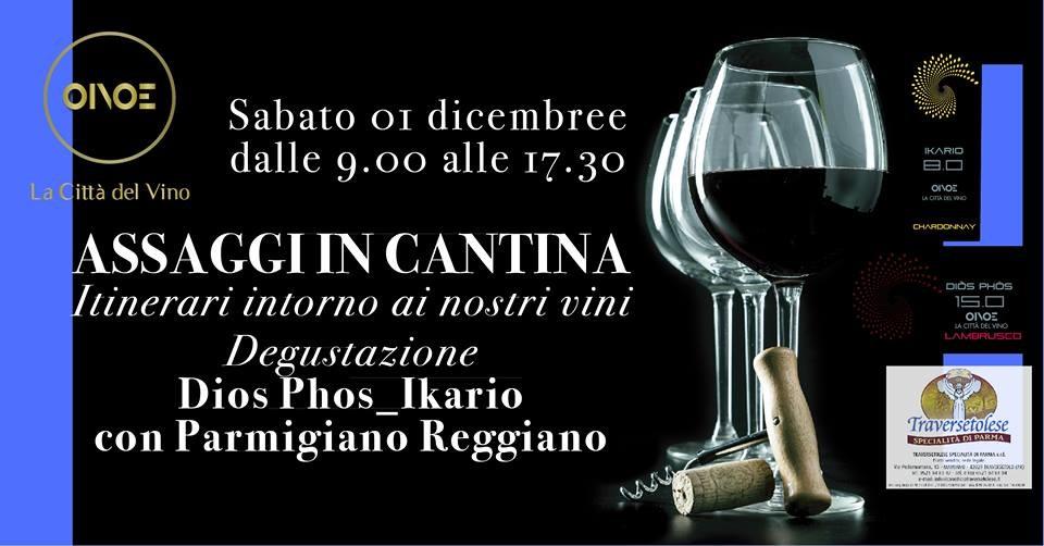 """Assaggi in cantina da OINOE la città del vino: """"15.0 Dios Phos"""" e  Chardonnay fermo """"8.0 Ikario"""""""
