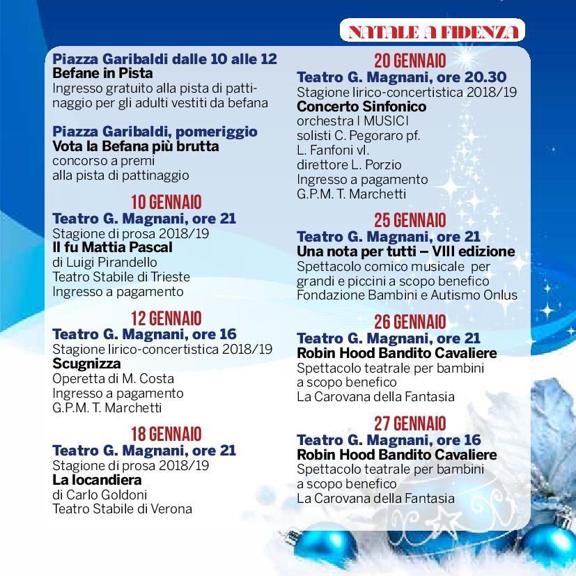 Natale a Fidenza, 192 eventi vi aspettano