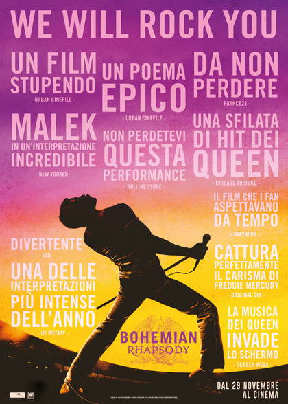 AL CINEMA GRAND'ITALIA TRAVERSETOLO :BOHEMIAN RHAPSODY
