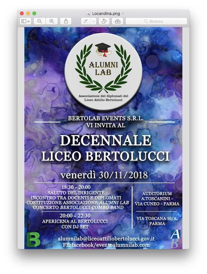 Decennale Liceo Bertolucci