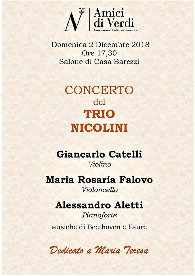 Concerto del Trio Nicolini in memoria del M° MARIA TERESA CARLONI
