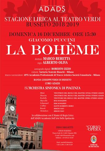 """""""LA BOHÈME"""" al Teatro Verdi di Busseto."""
