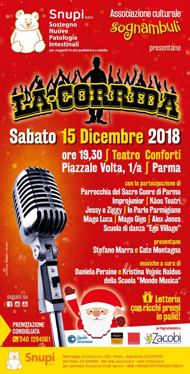 """""""La Corrida"""" al Teatro Conforti - Evento benefico"""
