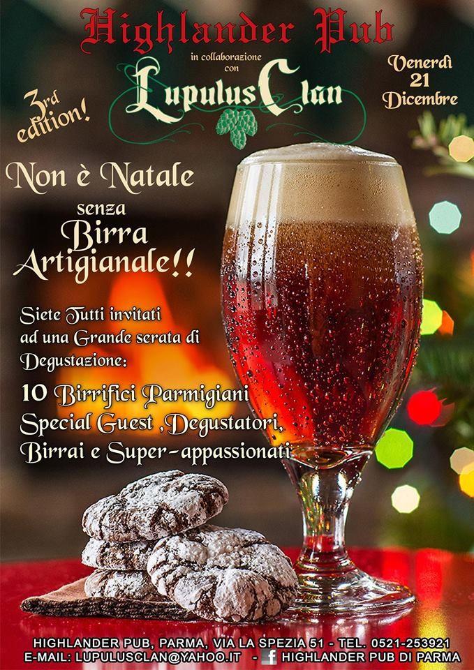 """All' Highlander pub  """"Non è Natale senza birra artigianale"""""""