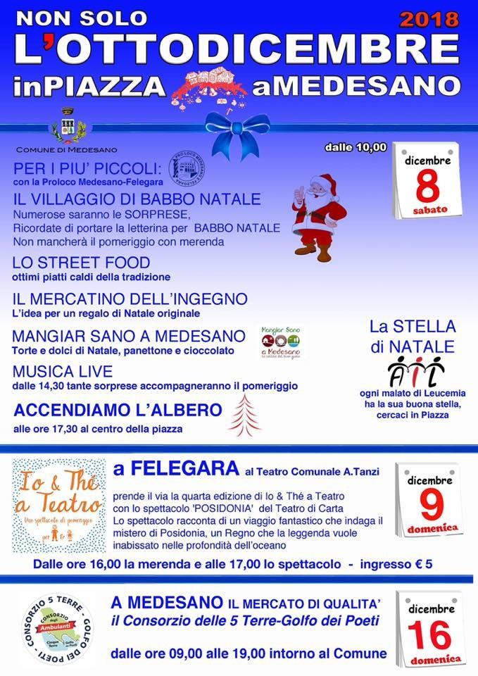 Non solo l'otto dicembre a Medesano